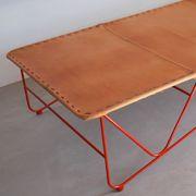 Garza Furniture - Marfa, Texas - Saddle Leather Cot