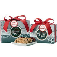 Silver Gourmet Gift Box - Be My Valentine - Cookie and Brownie Options