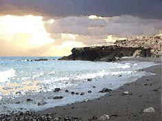 'Fuerteventura, Abend am Meer' von Dirk h. Wendt bei artflakes.com als Poster oder Kunstdruck $22.17