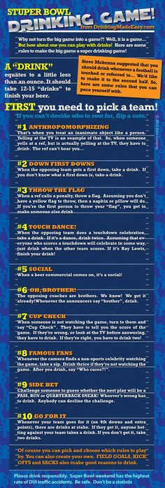 29 Ideas For Drinking Games Ideas Alcohol Super Bowl Super Bowl Drinking Game, Easy Drinking Games, Drinking Game Rules, Bowl Game, Super Bowl Sunday, Games For Teens, Getting Drunk, Football Food, Game Day Food
