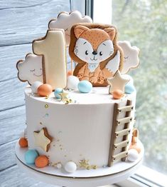 Baby Boy Birthday Cake, 18th Birthday Cake, Birthday Cakes For Women, Tortas Deli, Bolo Panda, Baby Boy Cake Topper, Cake For Boyfriend, Fox Cake, Tooth Cake