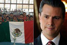 Peña Nieto felicitó a los niños Triquis