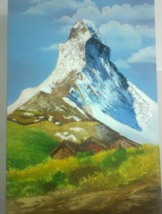 """Matterhorn Peak, Oil (Using Knife) on 24""""X36"""" stretched canvas"""