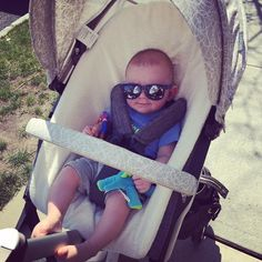Logan is one of our own #Stokke babies and he's #chill – #summerkits for your #StokkeStroller keeps #baby #cool
