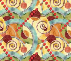 My design is featured on the Spoonflower home page today!! Europa Watercolour Design by #PatriciaSheaDesigns on #Spoonflower fabric, wallpaper, wrapping paper and wall decals!