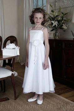 Spaghetti Chiffon Flower Trimed Affordable Perfect Cute Junior Party Dress