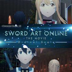 Kirito et Asuna de sword art online ordinal scale Sword Art Online Movie, Sword Art Online Asuna, Tous Les Anime, Sao Ggo, Japanese Anime Series, Anime Crossover, Kirito, Swords, Oeuvre D'art