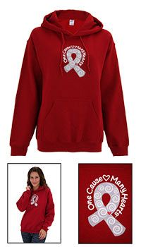 One Cause Many Hearts™ Diabetes Awareness Hooded Sweatshirt at The Animal Rescue Site