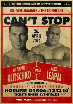 Wladimir Klitschko vs. Alex Leapai April 26 at 11:00pm König Pilsener Arena in Oberhausen, Germany  Join the event: https://www.facebook.com/events/508755072578147/  Get your ticket on www.eventim.de