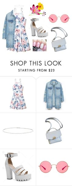"""Летний образ"" by netapples on Polyvore featuring мода, Hollister Co., LE3NO, Suzanne Kalan и Ray-Ban"
