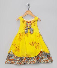 Yellow Floral Ruffle Dress - so sweet