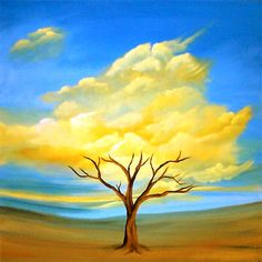 Modern landscape paintings on canvas. Nature Timing is a hand-painted artwork, created by the artist Osnat Tzadok. An online art gallery of modern paintings - artwork id Easy Nature Paintings, Landscape Paintings, Abstract Nature, Abstract Art, Surrealism Painting, Pictures To Paint, Cool Artwork, Painting Inspiration, Watercolor Art