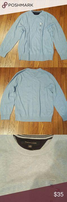 Tommy Hilfiger XL Blue/White  Crew neck sweater ... Tommy Hilfiger Sweaters Crewneck
