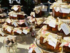 DIY Honey Jar Favors | Photo by Stephanie Colgan from Karima and Aaron's wedding on ...