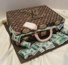 Money bag cake Cake Bag and Birthdays
