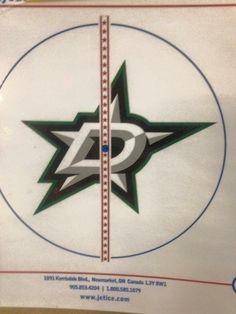 Dallas Stars center ice logo at American Airlines Center Stars Hockey, Hockey Teams, Ice Logo, Mike Modano, American Airlines Center, Dallas, Ice Cream Logo