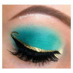Princess Jasmine Makeup ❤ liked on Polyvore featuring beauty products, makeup, eye makeup, gel eye liner, gel eyeliner and palette makeup