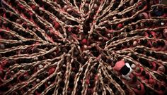 From the 2012 Concurs de Castells, a human tower-building competition in Tarragona, Spain, watch this video by photographer David Oliete