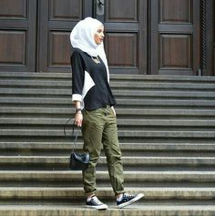 PINNED BY @MUSKAZJAHAN - hijabi street style