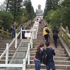 Ready to walk up to the #giant #Buddha on #Lantau #Island in #HongKong #ArnoldsAtticHongKong2015