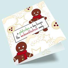 Süße Weihnachtsgrüße - Plätzchen Weihnachtskarte bestellen