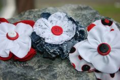Handmade black red and denim multipack hair by RockabillyBabyPlace, $5.75