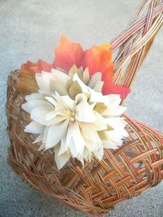 Usher in the Fall with this elegant and natural flower girl basket! Description from etsy.com. I searched for this on bing.com/images