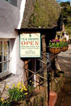 Tea:  Weavers' Cottage #Tea Shoppe, Cockington, South Devon, England.