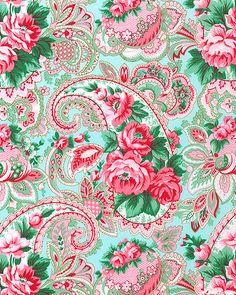 Veranda - Paisley Rose - Azure                                                                                                                                                                                 Más