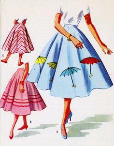 1956 Rock N Roll Skirts