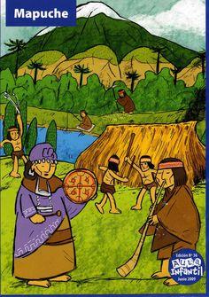 Material Didáctico: Pueblos originarios de Chile Aztec Symbols, Tribal Art, Street Art, 1, Painting, Conquistador, Spanish Language, Origins, Patagonia