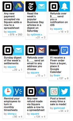 Most recipes at IFTTT are built for the individual. I came across a great collection that were built with the Small Business owner in mind. Thanks Square!