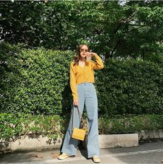 Korean Summer Outfits, Korean Casual Outfits, Summer Fashion Outfits, Kpop Outfits, Spring Bridesmaid Dresses, Casual Street Style, Everyday Outfits, Denim Fashion, Autumn Fashion