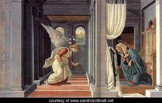 The Annunciation c. 1485 - Sandro Botticelli (Alessandro Filipepi) - www.sandrobotticelli.net