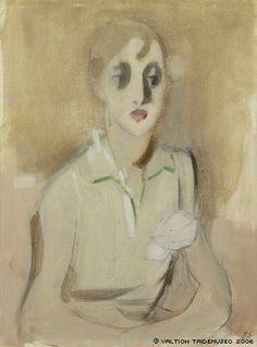 Helene Schjerfbeck (Finnish, 1862 - Modern Schoolgirl (via Finnish National Gallery) Helene Schjerfbeck, Abstract Portrait, Portrait Paintings, Portrait Art, Portraits, Helsinki, Art Eras, Female Painters, National Gallery