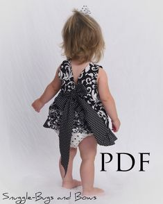 Ruffled Pinafore Sewing Pattern  Baby Girl by littlelizardking, $7.00