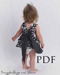 Delantal chicas de patrón patrón de vestido de por littlelizardking