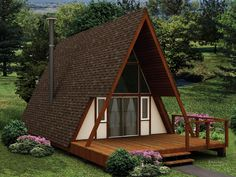 Plans For Small Aframe | Yakutat A Frame Home Plan 008D 0161 | House
