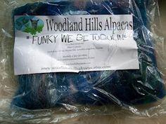 Lovely batt from Woodland Hills Alpacas (http://www.woodlandhillsalpacas.com/) in yesterday's Phat Fiber giveaway (still open for entries)