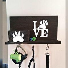 Dog Leash Holder, Custom Dog Leash Holder, Love Dogs, Dog Leash Hanger, Dog…