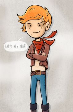 Happy new year! Illustration by Andreas Denzer • www.andreasdenzer.de