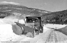 1956  Ford Truck plowing snow