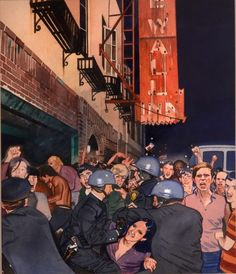 Julian Allen's first solo exhibit in New York state since his untimely passing continues until Oct. 15.  (pictured: Stonewall Riot)  #art #inspiration