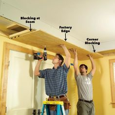 Add drama and beauty with this easy-to-build soffit lighting system and well-placed lighting. This is the ultimate improvement for ordinary ceilings. Installing Recessed Lighting, Recessed Ceiling, Ceiling Fixtures, Ceiling Lights, Cove Lighting, Lighting System, Soffit Ideas, Diy Storage Shed, Diy Wood Wall