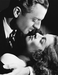 "Myrna Loy and William Powell in a publicity still for ""Manhattan Melodrama"" (1934)"