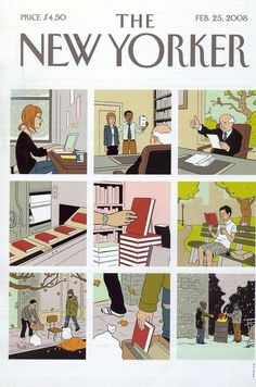 The New Yorker by Adrian Tomine The New Yorker, New Yorker Covers, Capas New Yorker, Life Cover, Ligne Claire, Magazine Art, Magazine Covers, Bd Comics, Vogue Covers