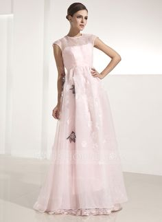 MOB dress idea - without the flowers.  Holiday Dresses - $152.99 - A-Line/Princess Scoop Neck Floor-Length Organza Holiday Dress With Flower(s) (020025980) http://jjshouse.com/A-Line-Princess-Scoop-Neck-Floor-Length-Organza-Holiday-Dress-With-Flower-S-020025980-g25980