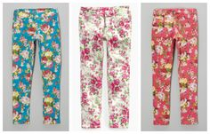 FLORAL PANTS, GIRLS 4-16 $9.99-$12.99