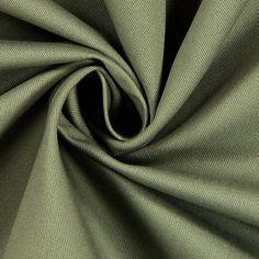 Mantelstoff Uni 3 - Baumwolle - oliv