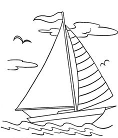 sail boat coloring page